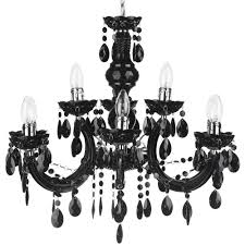 marie therese 9 light dual mount chandelier black fast free delivery