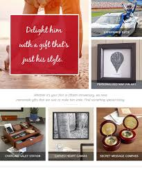 choose from personalized photo frames customized wall prints or end accessories just a few of our anniversary gift ideas for him