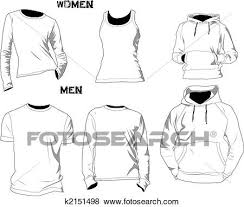 Tee Shirts Templates Stock Illustration Of T Shirt Templates K2151498 Search Eps Clip