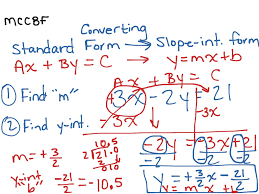 converting standard form to slope intercept math algebra last thumb13921 standard form form full