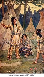 song of hiawatha by henry wadsworth longfellow the famine stock hiawatha questioning old nokomis about his father go my son into the forest scene from epic poem the song