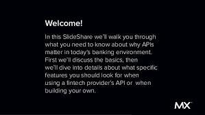 slideshare api the api slideshare for bankers and fintech executives