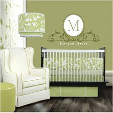 white initial personalized monogram wall decals text