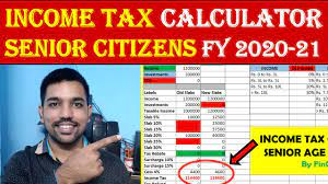 senior citizen ine tax calculation