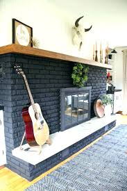 painted brick fireplaces painting over brick fireplace before and after