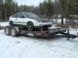 1989 Honda Civic CRX si 1/8 mile Drag Racing timeslip 0-60 ...