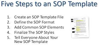 How To Prepare A Sop Format New Writing Standard Operating Procedures Writing SOP Bizmanualz