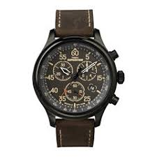 timex men s watches for jewelry watches jcpenney timex® expedition® mens brown leather strap chronograph watch t499059j