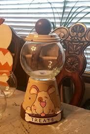 Dog treat jar made from a terra-cotta pot