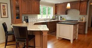 Small Picture kitchens with peninsulas Cherry Cabinets Atticmag