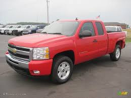 2010 Victory Red Chevrolet Silverado 1500 LT Extended Cab 4x4 ...