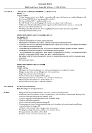 Embedded Firmware Engineer Resume Samples Velvet Jobs