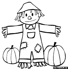 scarecrow coloring sheets free printable pages fall and pumpkins s