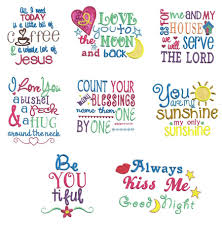 Free Machine Embroidery Sayings Designs Sweet Sayings Set 1 Machine Embroidery Designs Embroidery