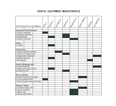 Equipment Service Log Template Service Record Template
