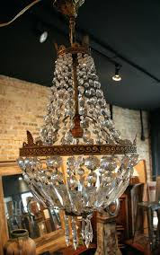 fascinating french vintage empire style crystal chandelier antique empire basket chandelier