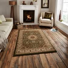 traditional regency wool look pile rug medallion pattern
