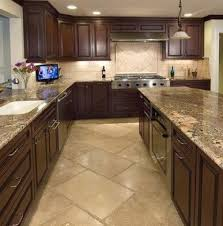 Ceramic Tile Kitchen Floor Beige Motive Modern Design Kitchen Flooring Ideas Ceramic Tile