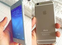 iphone 6 silver front. on the front, we see that front camera has been moved to right of upper portion relative its predecessor, iphone 5s. iphone 6 silver 7