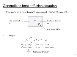 generalized heat diffusion equation lecture 13 heat transfer applied comtional fluid dynamics