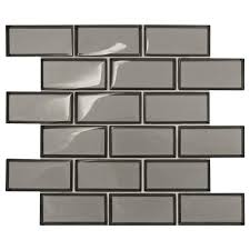 daltile premier accents smoke gray brick joint 11 in x 13 in x 8