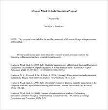 Proposal Outline Templates         Free Free Word  PDF Format