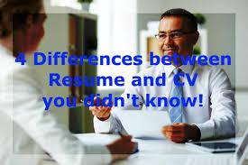 Resume Vs Cv - 4 Key Difference Between Cv & Resume [With Examples]