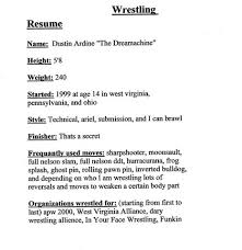 Awesome Wrestling Resume Gallery - Simple resume Office Templates .