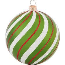 Weihnachtsdeko Kugel Mit Muster ø 8 Cm Grün