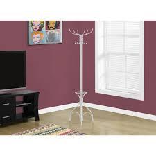 10 Hook Coat Rack Monarch Specialties White 100Hook Coat RackI 100 The Home Depot 27