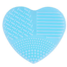 heart shaped silicone clean brushes makeup wash brush silica glove scrubber board cosmetic cleaning tools for