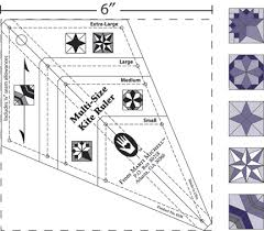 From Marti Michell: Multi-Size Kite Ruler