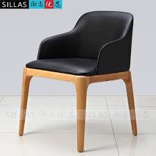 wood armchair chair backrest casual restaurant leather dining commercial chairs uk nordic european bedroom f
