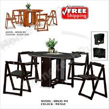 erfly wooden foldable dining table and 4 folding chairs dining set 1 4