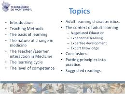 adult learning 2 topics• introduction • adult learning characteristics