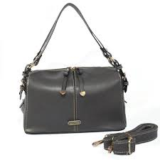 Coach Madison Exotic Medium Grey Shoulder Bags CIQ