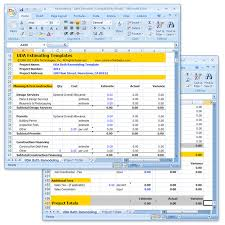 construction estimate sample uda construction estimating templates remodeling excel templates
