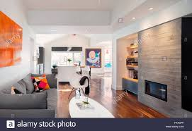 Modern Kitchen Living Room Looking Into A Modern Kitchen Through A Living Room With A