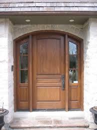 image of solid wood steel entry door