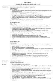 Electronics Technician Resume Samples Electronic Test Technician Resume Sample Great Installation Of
