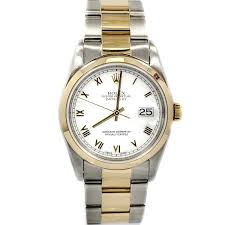 men s certified pre owned watches rolex datejust swiss automatic mens watch 16233 certified pre owned