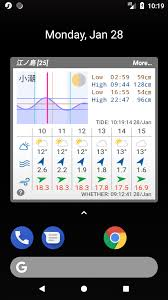 Tide Chart Widget Tide And Weather Widget Surftidedeltawidget 1 0 1 Apk