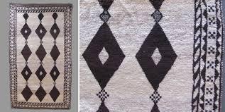 persian louristan gabbeh black white rug mid 20th cent