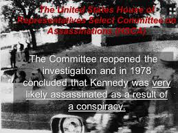 Image result for in 1978 the House Select Committee on Assassinations