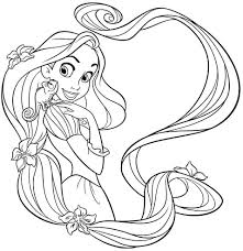 Small Picture Disney Princess Rapunzel Coloring Sheets Free For Preschool 55959