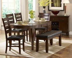 Oval Shape Dining Table Design Round Table With Butterfly Extension 4 Chairs 1 Bench