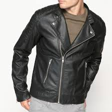 new collections faux leather biker jacket black xyv 59962 men coats jackets