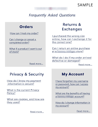 FAQS for E-commerce Site – Ivy Wade