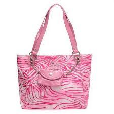 Coach Whimsy Logo Medium Pink Totes EHU