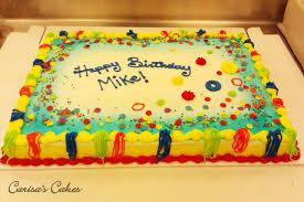Carisa s Cakes 1 2 Sheet Birthday Cake